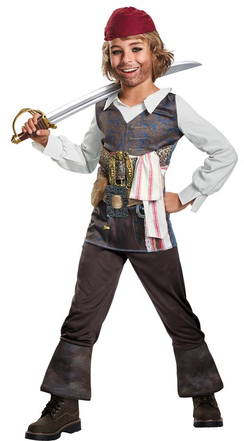 Boys Captain Jack Classic Costume - Pirates Of The Caribbean 5
