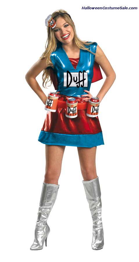 SIMPSONS DUFFWOMAN DELUXE ADULT COSTUME
