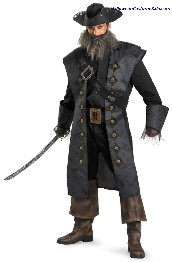 BLACKBEARD DELUXE PLUS SIZE COSTUME