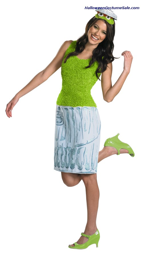 OSCAR SESAME STREET LADIES ADULT COSTUME