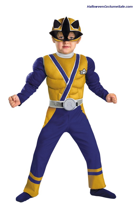 GOLD RANGER SAMURAI MUSCLE CHILD/TODDLER COSTUME