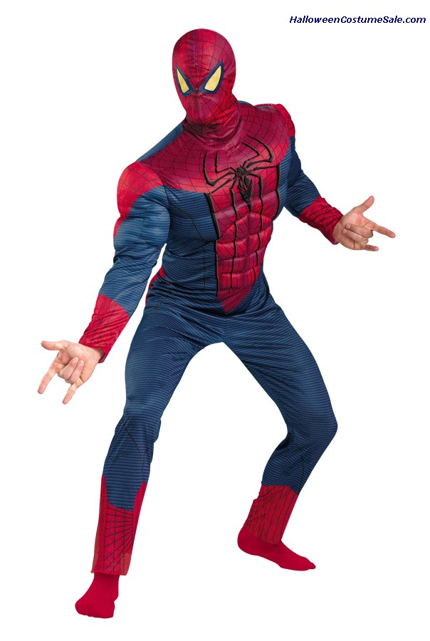 SPIDER-MAN CLASSIC MUSCLE PLUS SIZE ADULT COSTUME