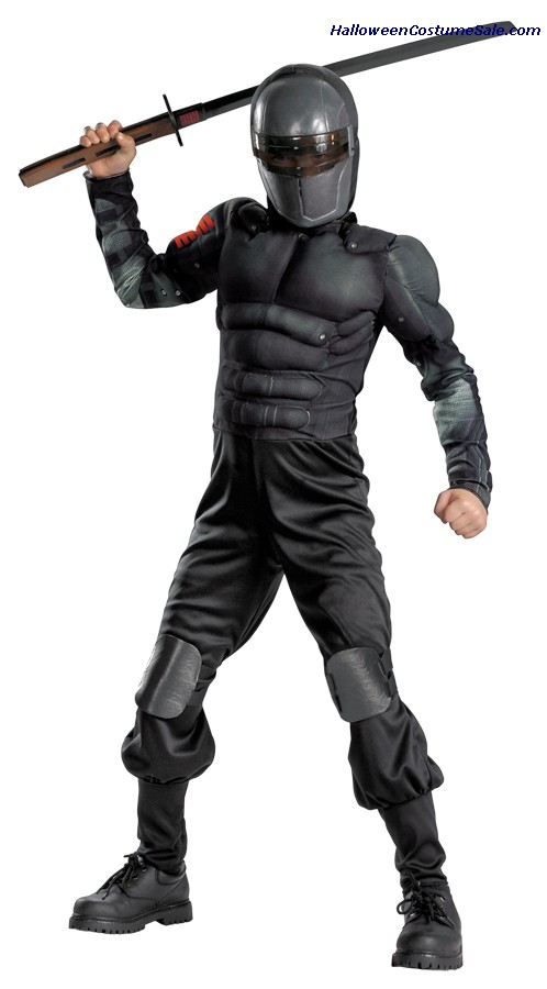 SNAKE EYES CLASSIC MUSCLE CHILD COSTUME