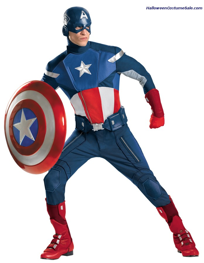 CAPTAIN AMERICA AVENGERS THEATRICAL PLUS SIZE ADULT COSTUME