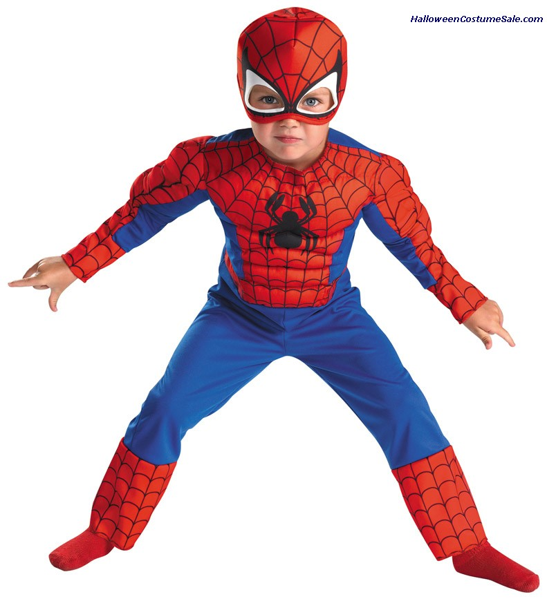 SPIDERMAN MUSCLE TODDLER/CHILD COSTUME