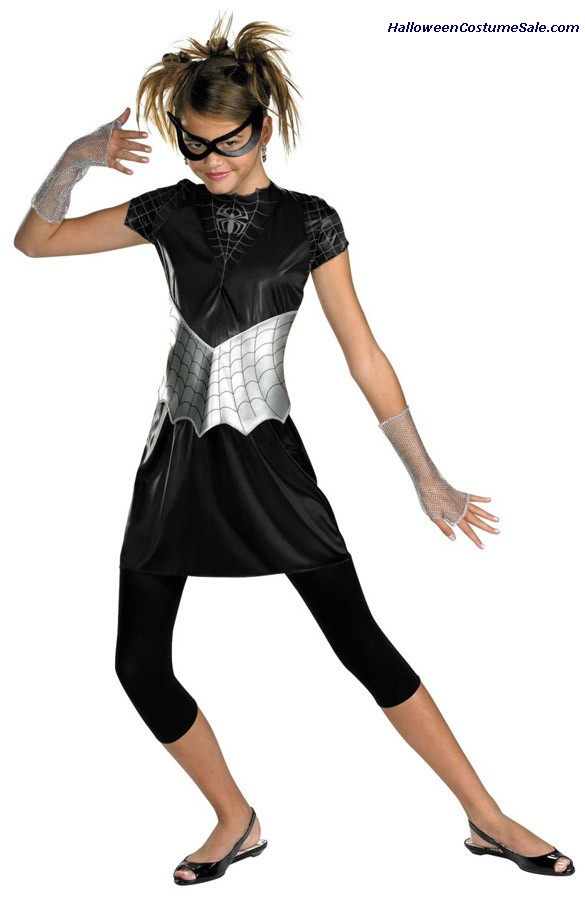 SPIDER GIRL BLACK SUITED CHILD/TEEN COSTUME
