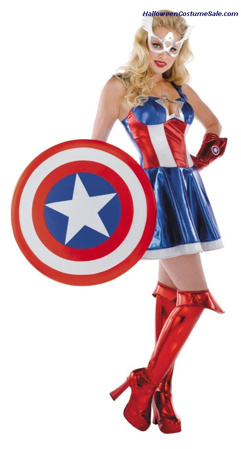 CAPTAIN AMERICA SASSY ADULT COSTUME