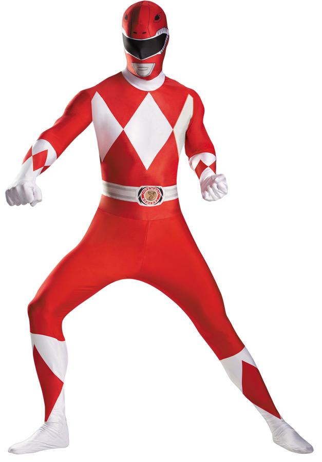 RED RANGER BODYSUIT PLUS SIZE ADULT COSTUME