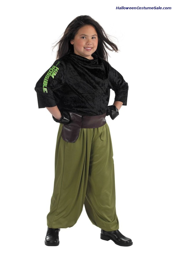 KIM POSSIBLE AGENT CHILD COSTUME