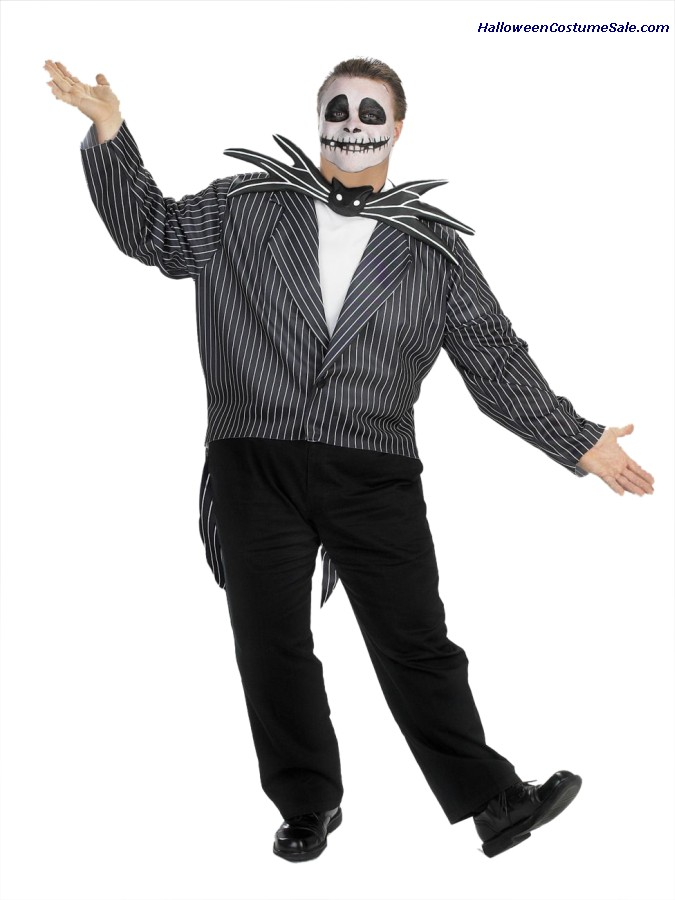JACK SKELLINGTON ADULT COSTUME - PLUS SIZE