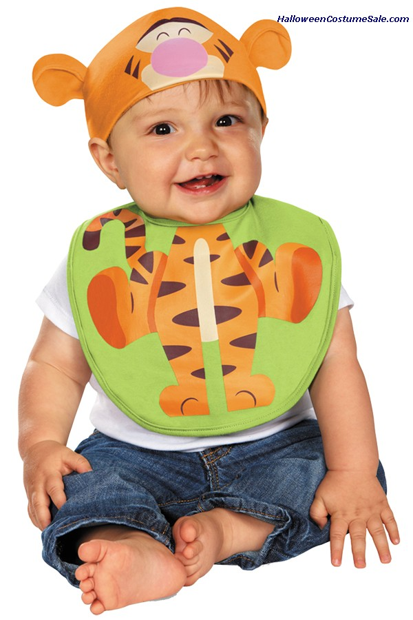 INFANT TIGGER BIB WITH HAT