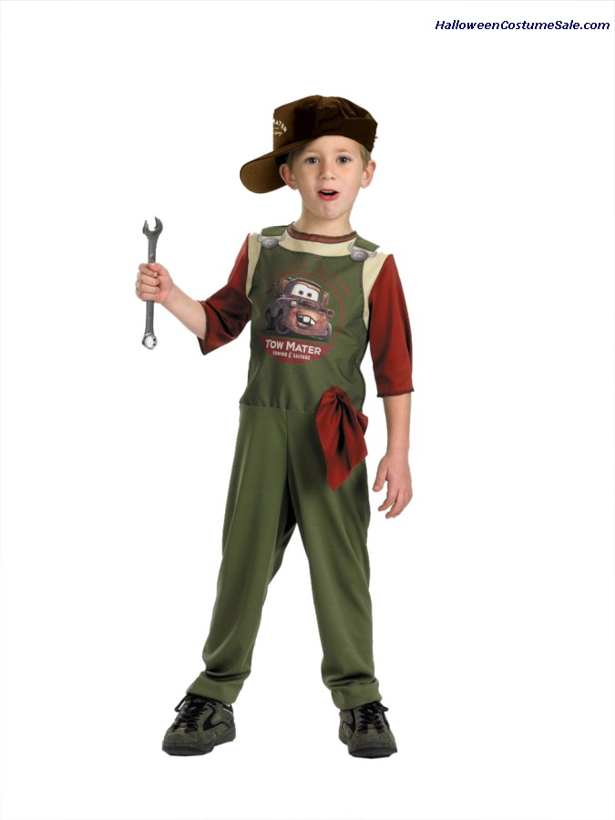 DISNEY TOW MATER MECHANIC CHILD COSTUME