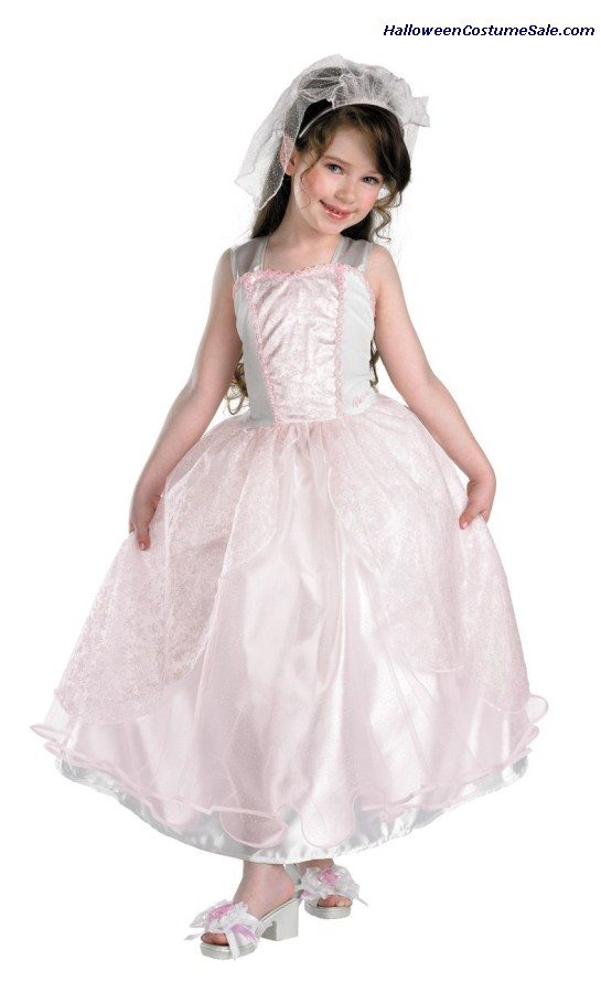 DELUXE BARBIE MY WEDDING DAY CHILD COSTUME