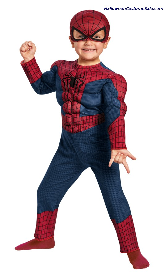SPIDERMAN 2 MUSCLE TODDLER COSTUME