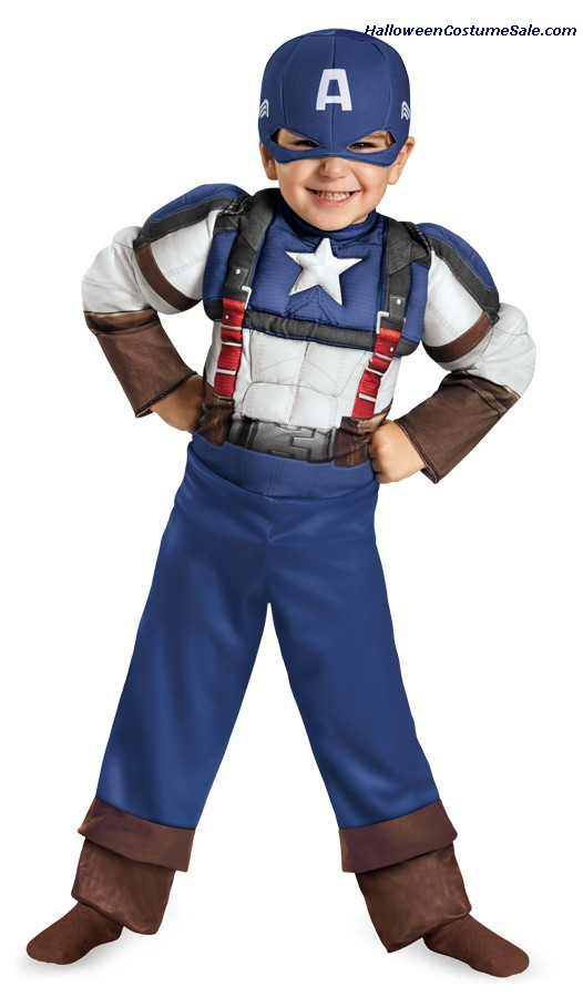 CAPTAIN AMERICA RETRO MUSCLE TODDLER COSTUME
