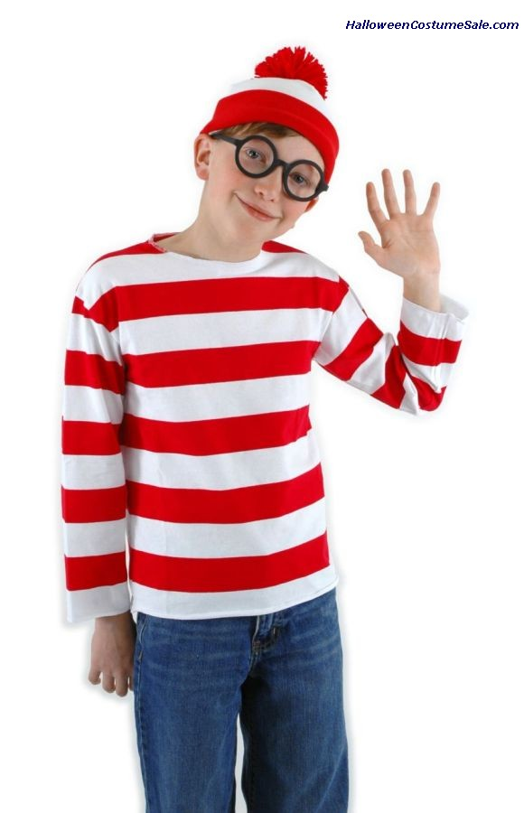WHERES WALDO YOUTH COSTUME KIT, ELLK9207, ELLK9208