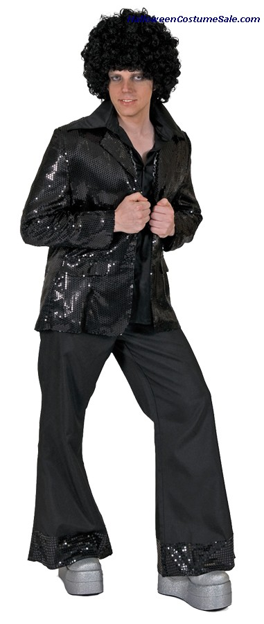 DISCO TUX BLACK JACKET ADULT COSTUME