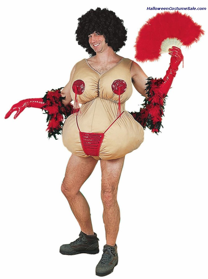 TASSLE TWIRLING TESSIE ADULT COSTUME - VERY FUNNY!