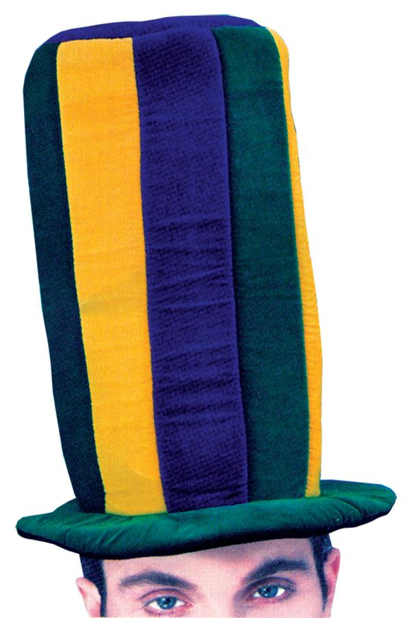 MARDI GRAS TALL HAT ADULT