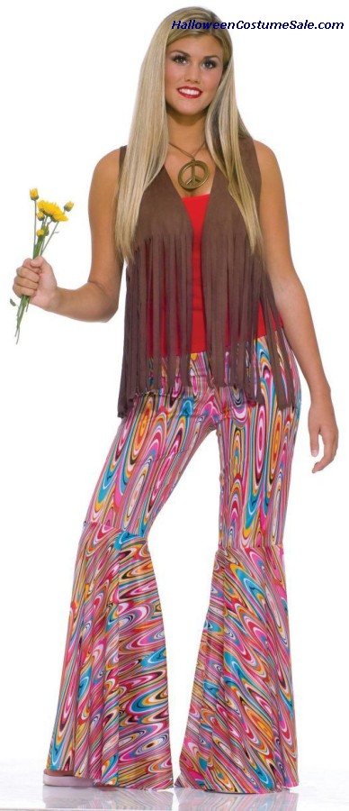 WILD SWIRL BELL BOTTOM PANTS