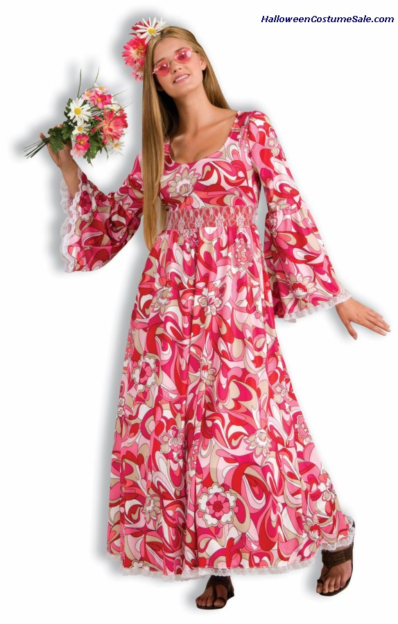 FLOWER CHILD ADULT COSTUME