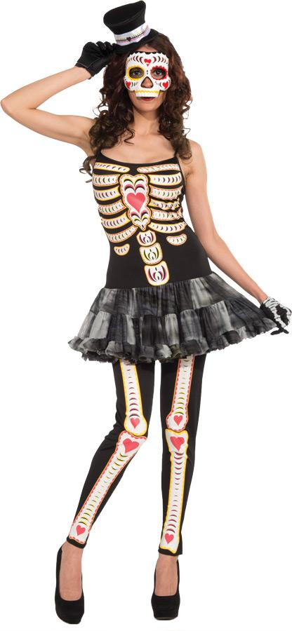 DAY OF THE DEAD FEMALE ADULT COSTUME