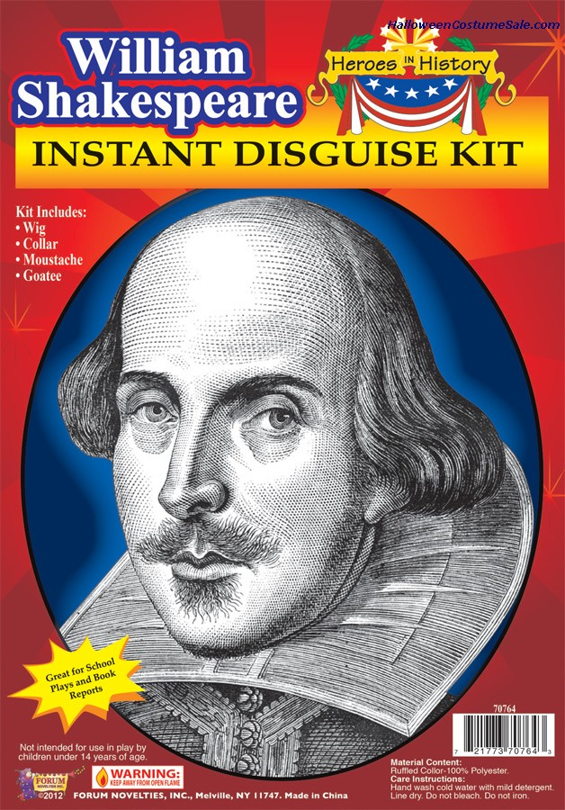 HEROES IN HISTORY WILLIAM SHAKESPEARE KIT