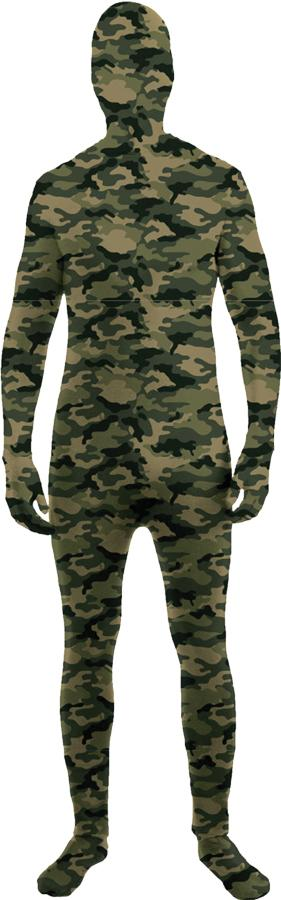SKIN SUIT CAMO CHILD COSTUME