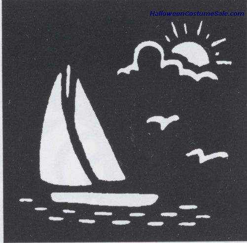 BRASS SAILBOAT STENCIL
