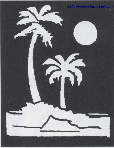 BRASS STENCIL PALM TREES