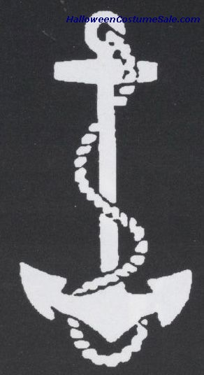 STAINLESS ANCHOR W/ ROPE STENCIL