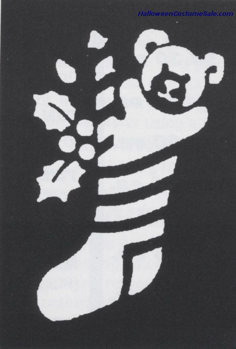 BRASS STOCKING BEAR STENCIL