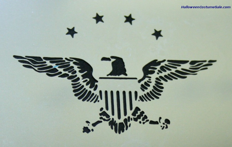 STAINLESS EAGLE & STARS STENCIL