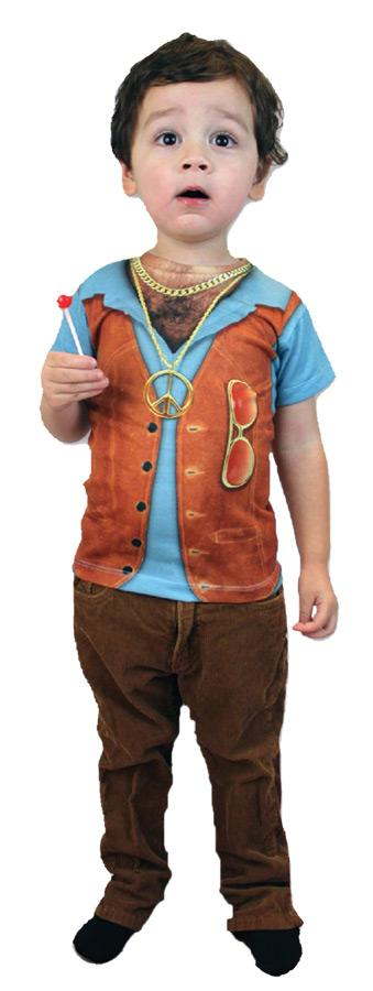 HAIRY CHEST YOUTH CHILD COSTUME
