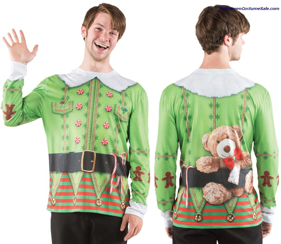 UGLY CHRISTMAS ELF SWEATER ADULT COSTUME