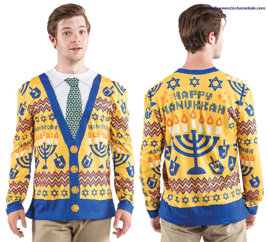 UGLY HANUKKAH SWEATER ADULT COSTUME
