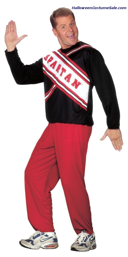 SPARTAN GUY CHEERLEADER ADULT COSTUME - PLUS SIZE