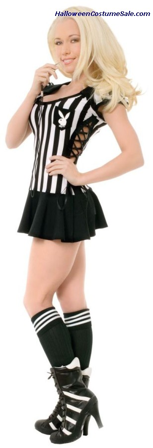 PLAYBOY RACY REFEREE ADULT COSTUME