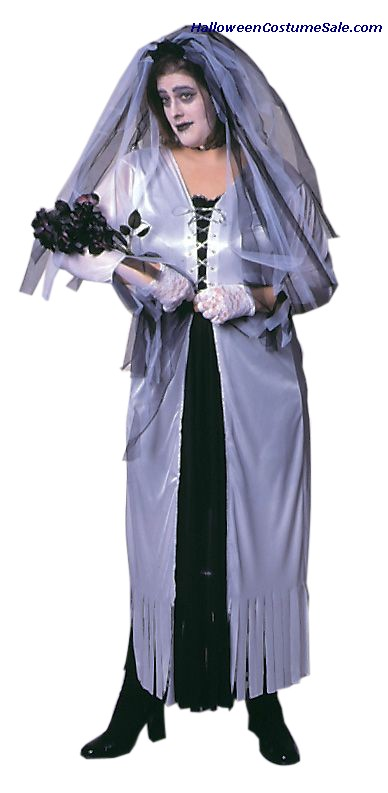 SKELETON BRIDE ADULT COSTUME - PLUS-SIZE