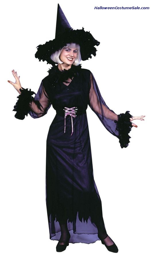 FEATHER WITCH ADULT COSTUME - PLUS SIZE
