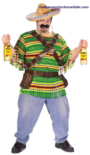 TEQUILA POP N DUDE ADULT COSTUME - PLUS SIZE