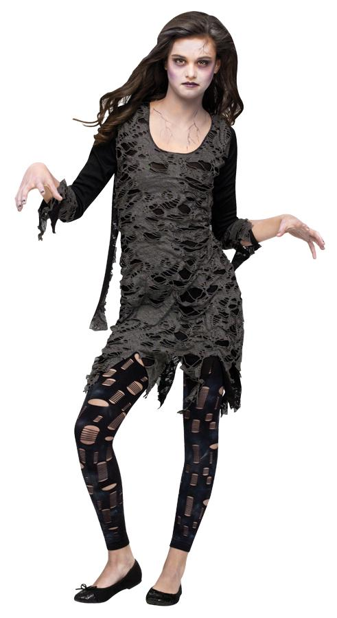 LIVING DEAD/WALKING ZOMBIE TEEN COSTUME