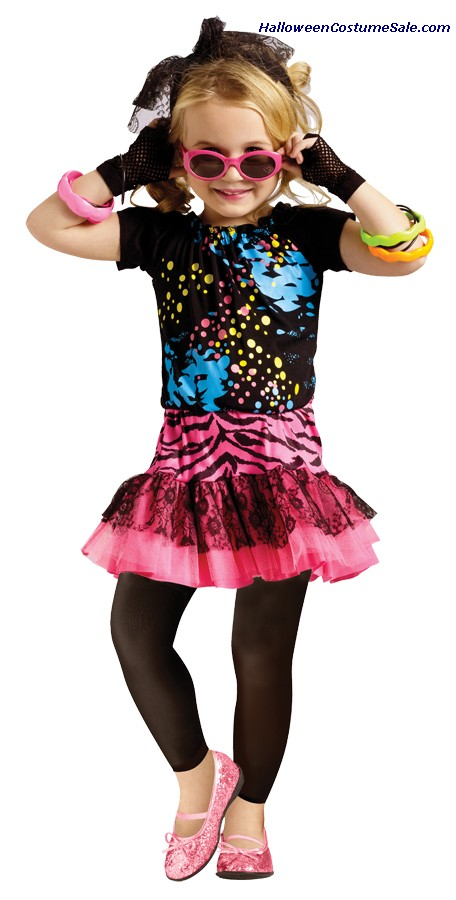 80S POP PARTY CHILD COSTUME