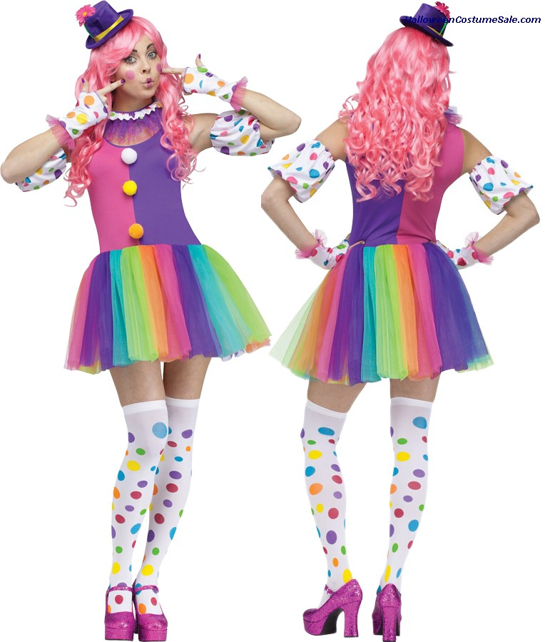 CLOWNIN AROUND ADULT COSTUME