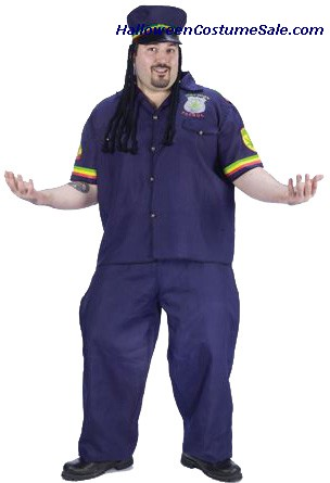 WAY HIGH PATROLMAN ADULT COSTUME - PLUS SIZE