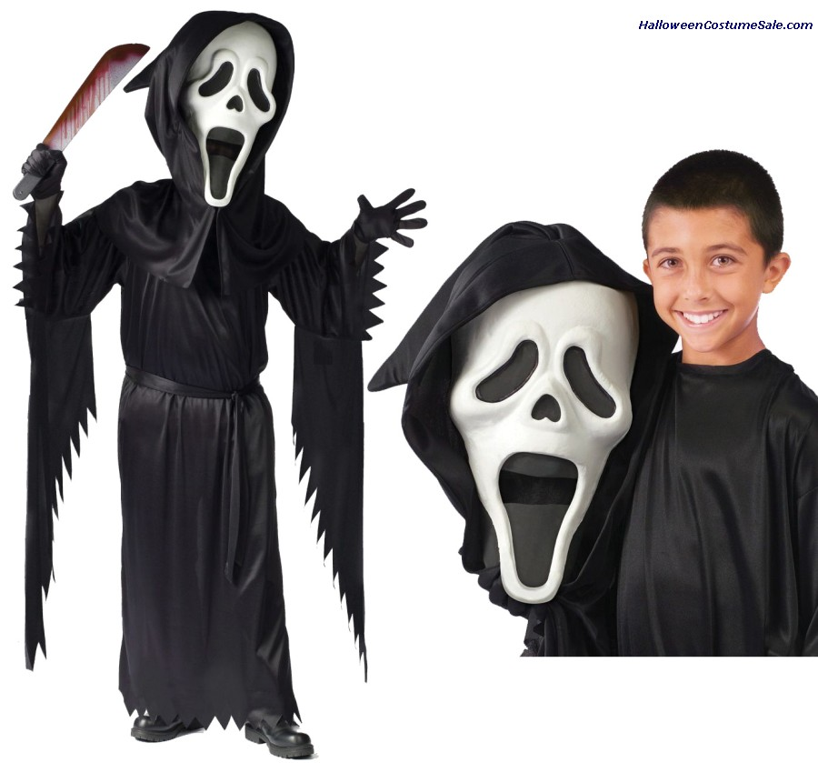 BOBBLE HEAD GHOST FACE CHILD COSTUME