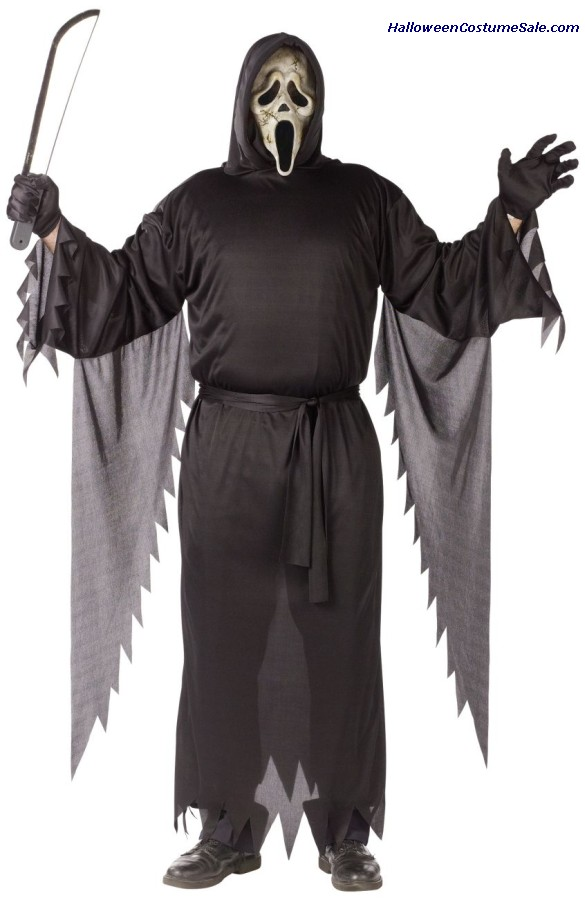 Zombie Ghost Face Adult Costume - Plus Size
