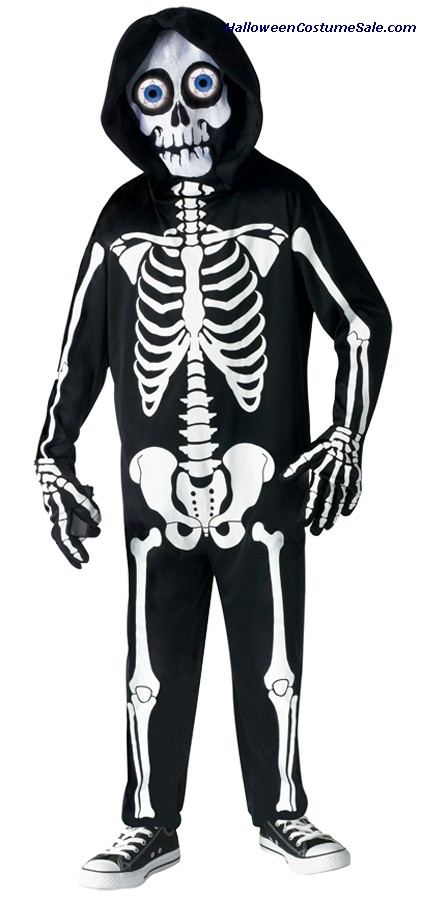 FRIGHT LIGHT SKELETON CHILD COSTUME