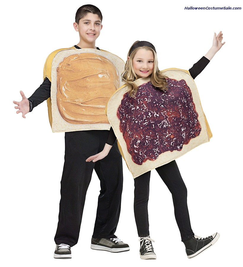 PEANUT BUTTER N JELLY CHILD COSTUME