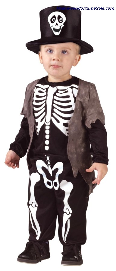 Happy Skeleton Toddler Costume - Very Cute!